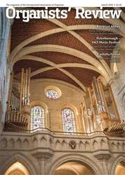 Organists' Review issue March 2018