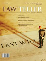 Lawteller – A Legal Awareness Magazine issue February 2018