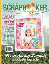 Creative Scrapbooker issue Spring 2018