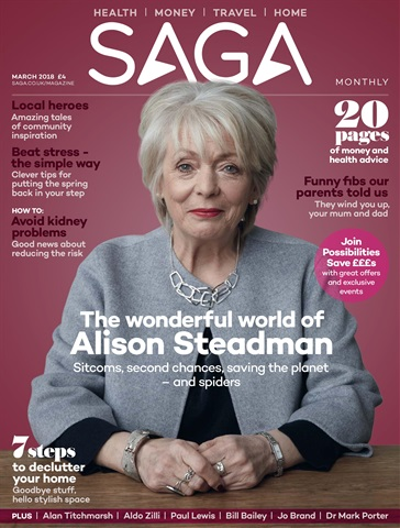 Saga Magazine issue March 2018