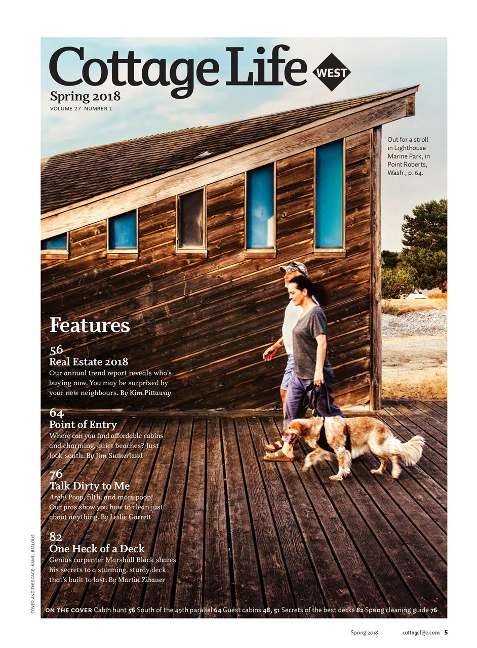 Cottage life west magazine spring 2018 subscriptions for Spring cottage magazine