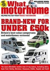 What Motorhome magazine issue New motorhomes for under £50k issue - April 2018