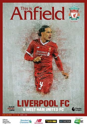Liverpool Fc Programmes Vs West Ham United 17 18