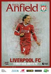 Liverpool FC Programmes issue vs West Ham United 17/ 18