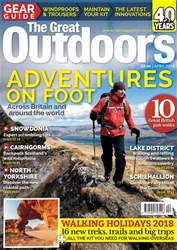 TGO - The Great Outdoors Magazine issue April 2018