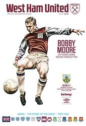 West Ham Utd Official Programmes issue Burnley