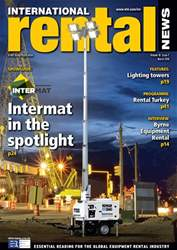 International Rental News Magazine Cover