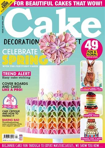 Cake Decoration & Sugarcraft Magazine issue April 2018
