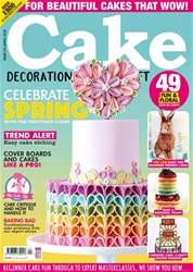 Cake Decoration & Sugarcraft Magazine issue April 2018