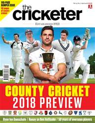 The Cricketer Magazine issue April 2018