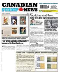 Canadian Stamp News issue V42#25 - April 3