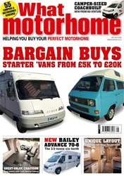 What Motorhome magazine issue The Bargain Buys issue – May 2018