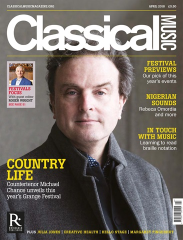 Classical Music issue April 2018
