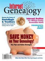 Internet Genealogy issue AprMay2018
