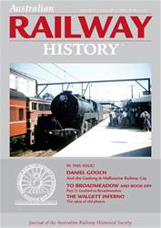 Australian Railway History issue April 2018