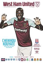 West Ham Utd Official Programmes issue Stoke City