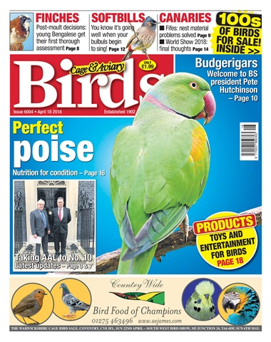 Cage & Aviary Birds issue 18th April 2018