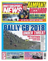 Motorsport News issue 18th April 2018