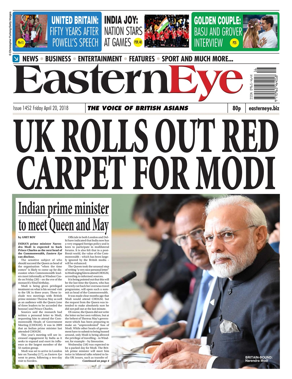 Established in 1989 Eastern Eye is a full colour tabloid with coverage of  news, sport, entertainment and Bollywood news.It has become the best  selling ...