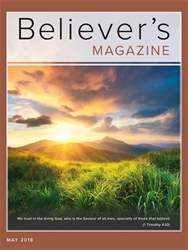 Believer's Magazine issue May 2018