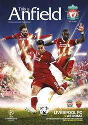 Liverpool FC Programmes issue vs AS Roma 17/18