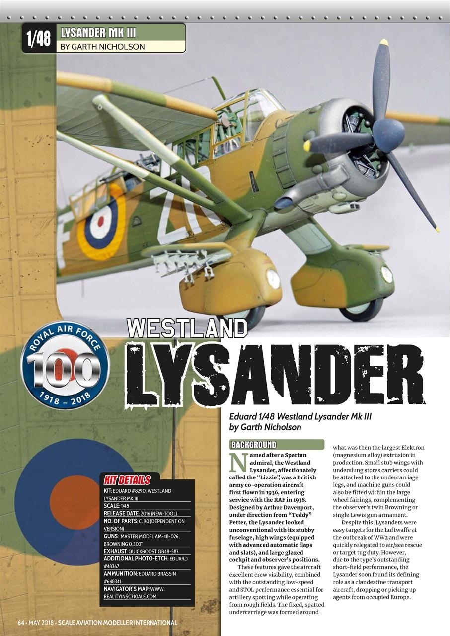 Scale Aviation Modeller Internat Magazine Sami Vol 24