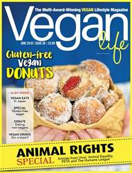 Vegan Life Magazine Cover