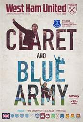 West Ham Utd Official Programmes issue Everton