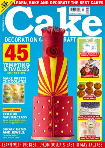Cake Decoration & Sugarcraft Magazine issue June 2018