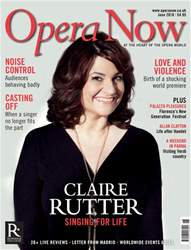 Opera Now issue June 2018