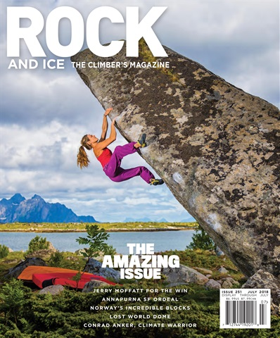 Rock and Ice issue July 2018