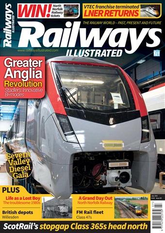 Railways Illustrated issue   July 2018
