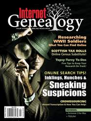 Internet Genealogy issue JunJul2018