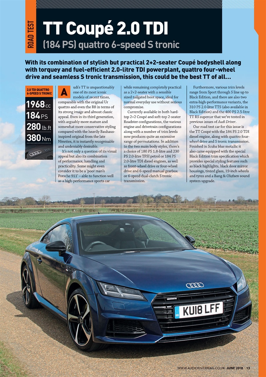 Audi Driver Magazine June 2018 Subscriptions Pocketmags
