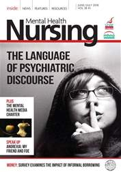 Mental Health Nursing issue June/July 2018