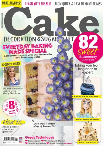 Cake Decoration & Sugarcraft Magazine issue July 2018