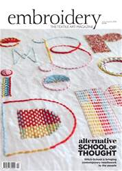 Embroidery Magazine issue Jul/Aug 2018