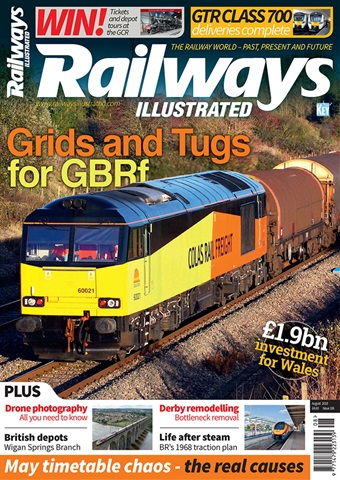 Railways Illustrated issue   August 2018