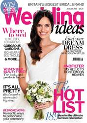 Wedding Ideas magazine issue August 2018