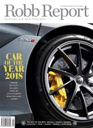 Robb Report Australia & New Zealand Magazine Cover