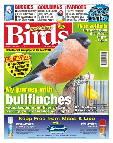 Cage & Aviary Birds issue 11th July 2018
