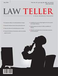 Lawteller – A Legal Awareness Magazine issue July 2018
