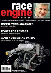 Race Engine Technology issue Race Engine Technology