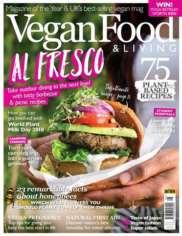 Vegan Food & Living Magazine issue Aug-18