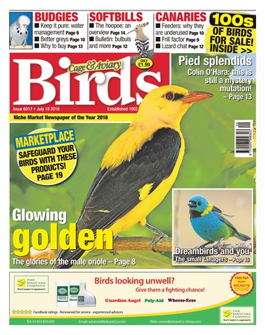 Cage & Aviary Birds issue 18th July 2018