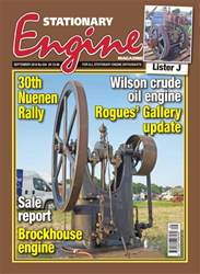 Stationary Engine issue September 2018