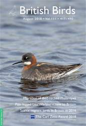 British Birds issue August 2018 | Vol 111 | 417 - 490