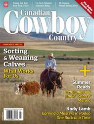 Canadian Cowboy Country issue Aug/Sep 2018