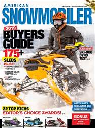 American Snowmobiler issue October 2018