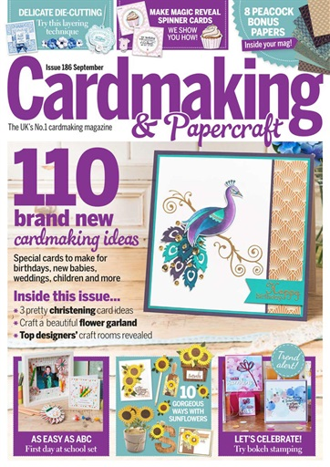 Cardmaking Papercraft Magazine September 2018 Subscriptions